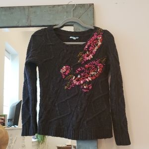 Anthropologie Leifnotes abstract garden sweater s
